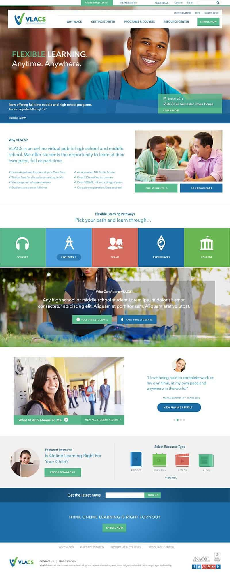 Virtual Learning Academy Charter School Website - Exeter NH