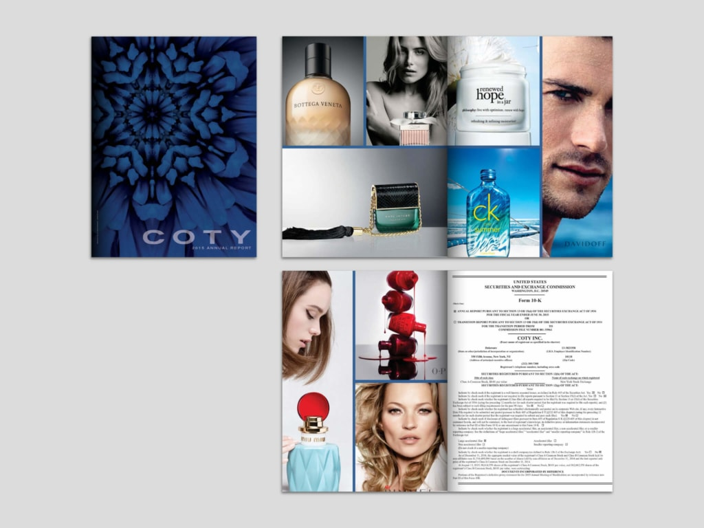 COTY old brand design advertisements
